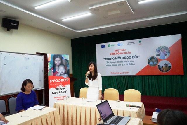 """Khởi động dự án """"Trang mới cuộc đời"""" – thúc đẩy quyền được khai sinh cho trẻ em khó khăn tại Tp Hồ Chí Minh"""