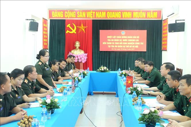 Trao đổi, học hỏi kinh nghiệm xét xử giữa Tòa án quân sự hai nước Việt - Lào
