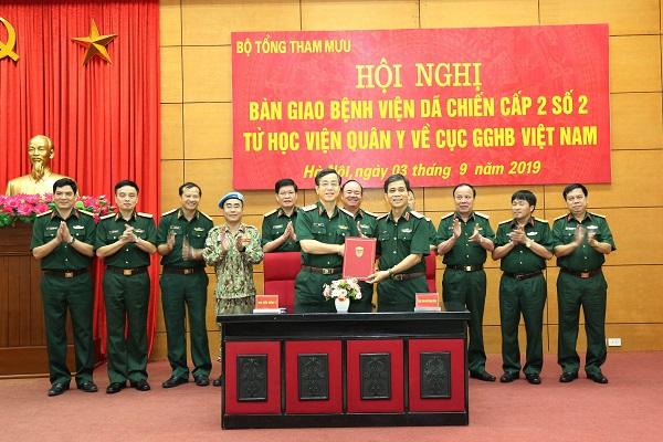 Bàn giao Bệnh viện dã chiến cấp 2 số 2 về Cục Gìn giữ hòa bình Việt Nam