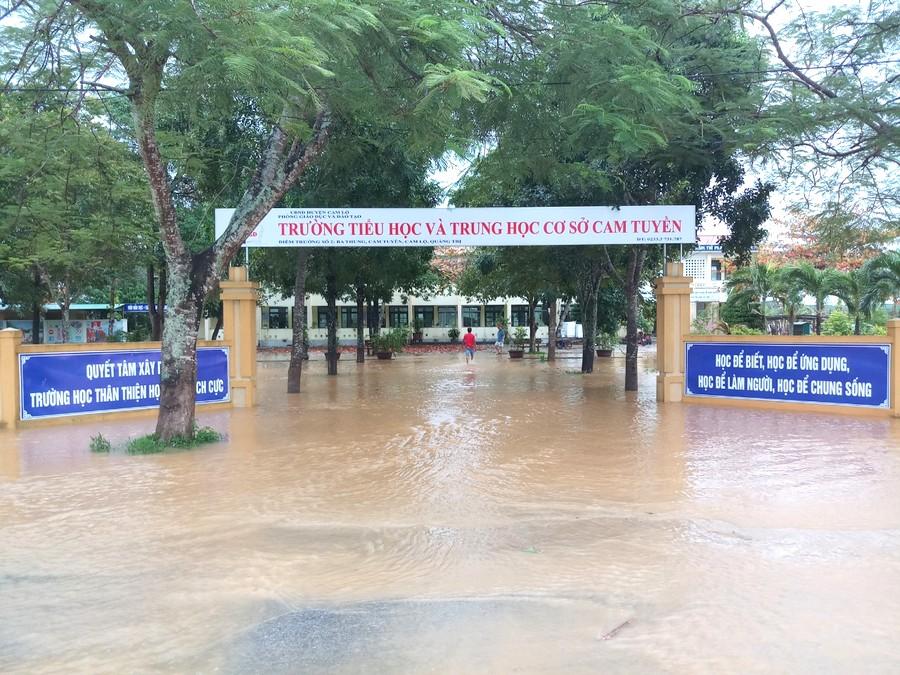 Quảng Trị Mưa lũ, 173 trường học hoãn khai giảng năm học mới