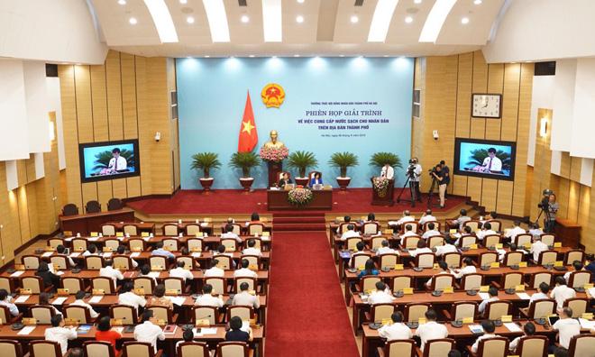 Hà Nội Giải trình cung cấp nước sạch cho người dân