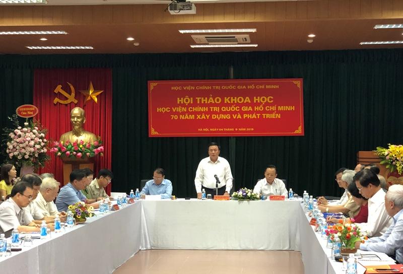 """""""Học viện Chính trị quốc gia Hồ Chí Minh 70 năm xây dựng và phát triển"""""""