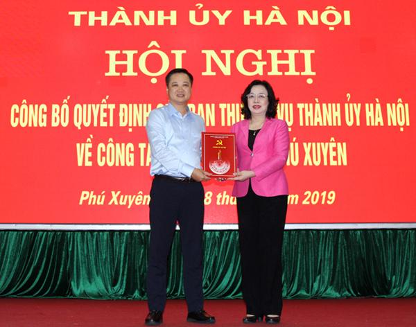 Hà Nội Phú Xuyên, Thanh Trì có Bí thư Huyện ủy mới