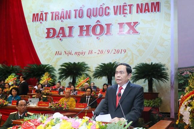 Đồng chí Trần Thanh Mẫn tái đắc cử Chủ tịch Ủy ban Trung ương MTTQ Việt Nam