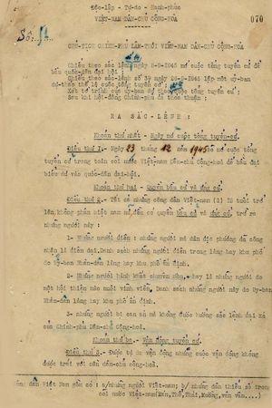 Cuộc Tổng tuyển cử năm 1946 và Hiến pháp đầu tiên của nước Việt Nam dân chủ cộng hòa