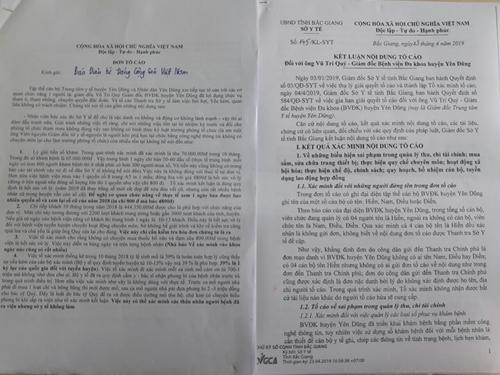 Bắc Giang Thanh tra chỉ ra nhiều vi phạm tại Bệnh viện Đa khoa huyện Yên Dũng