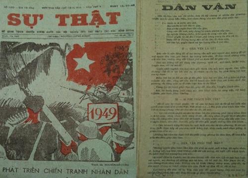 Báo Sự thật đăng tác phẩm Dân vận của Chủ tịch Hồ Chí Minh