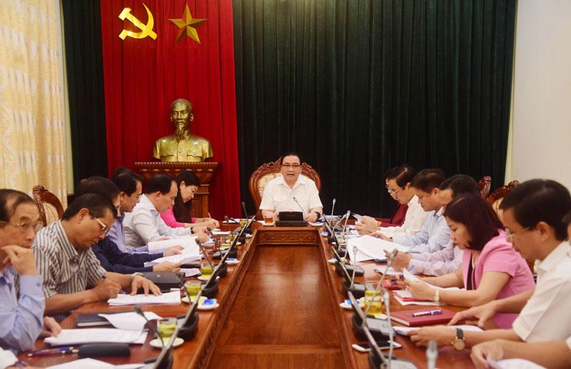 Bí thư Thành ủy Hà Nội Hoàng Trung Hải Chuẩn bị tốt cho tổng kết Chương trình 01-CTr TU