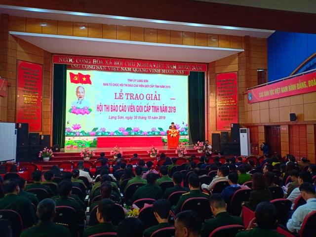 Lạng Sơn 32 thí sinh tham dự hội thi Báo cáo viên giỏi cấp tỉnh 2019