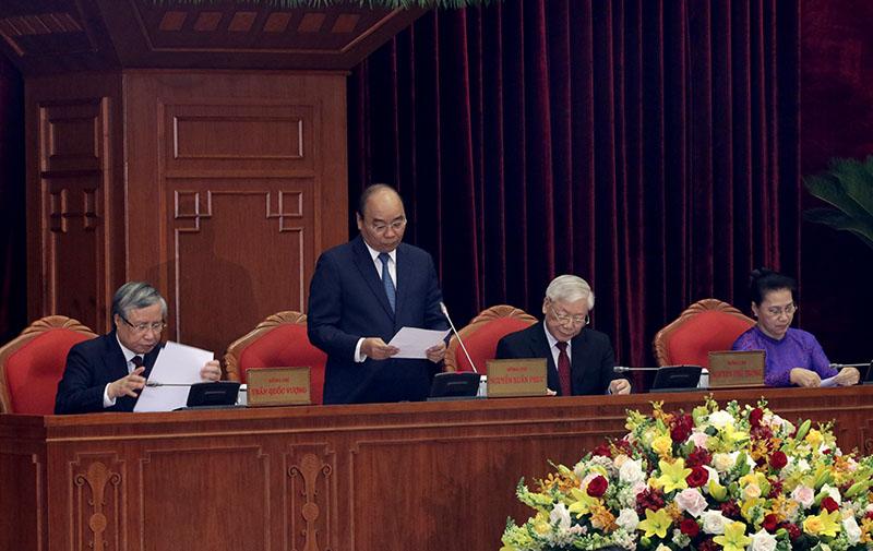 Ngày làm việc thứ nhất của Hội nghị lần thứ 11 Ban Chấp hành Trung ương Đảng khoá XII