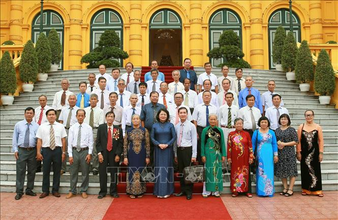 Phó Chủ tịch nước Đặng Thị Ngọc Thịnh tiếp Đoàn đại biểu người có công tỉnh Trà Vinh  🎥