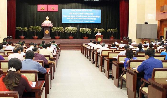 TP Hồ Chí Minh thông báo nhanh kết quả Hội nghị lần thứ 11 Ban Chấp hành Trung ương Đảng khóa XII