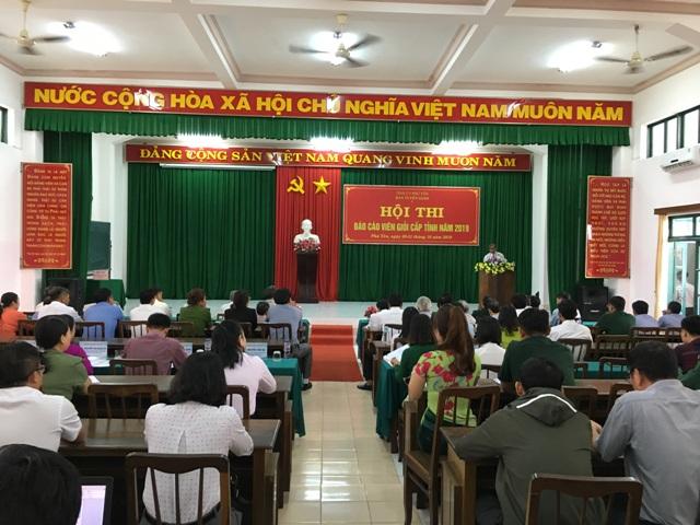 Phú Yên Khai mạc hội thi báo cáo viên giỏi cấp tỉnh