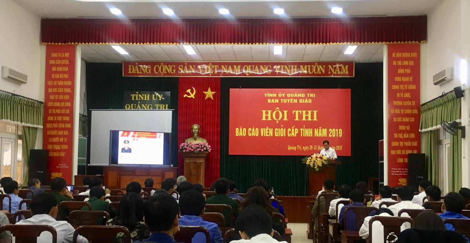 Quảng Trị 23 thí sinh tham gia Hội thi báo cáo viên giỏi cấp tỉnh năm 2019