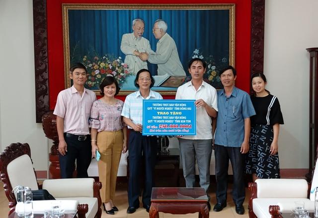 """Ủy ban MTTQ Việt Nam tỉnh Đồng Nai ủng hộ Quỹ """"Vì người nghèo"""" tỉnh Kon Tum 250 triệu đồng"""