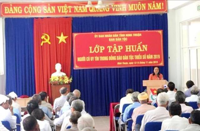 Phát huy vai trò của người có uy tín trong đồng bào dân tộc tỉnh Ninh Thuận