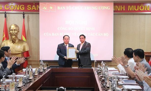 Đồng chí Quản Minh Cường giữ chức Phó Trưởng ban Tổ chức Trung ương