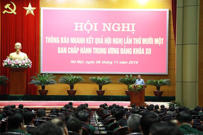Đảng ủy Bộ Tổng Tham mưu thông báo nhanh kết quả Hội nghị Trung ương 11 khóa XII