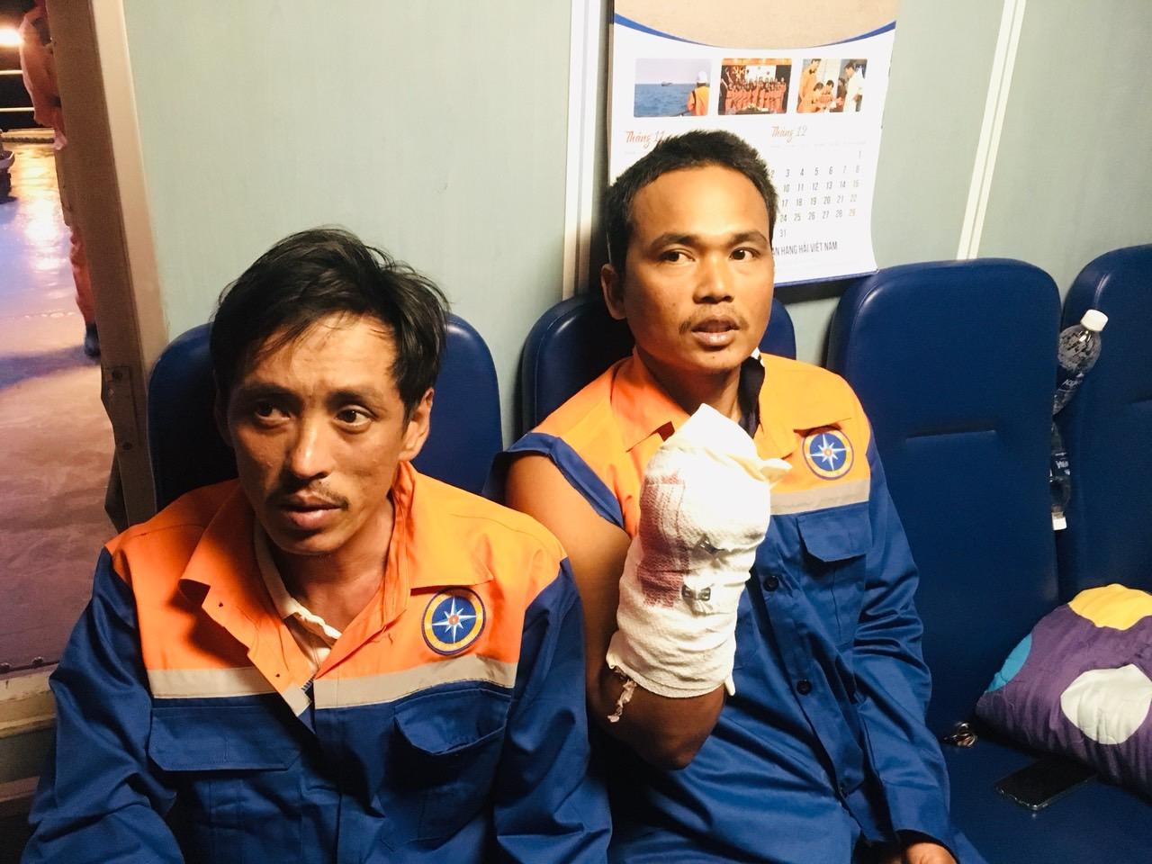 Cứu nạn khẩn cấp ngư dân bị tai nạn lao động