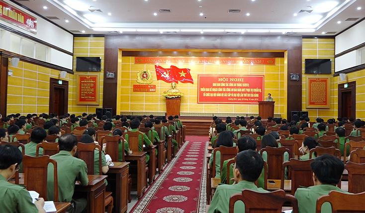 Công an Quảng Bình bảo đảm an ninh trật tự phục vụ đại hội Đảng các cấp