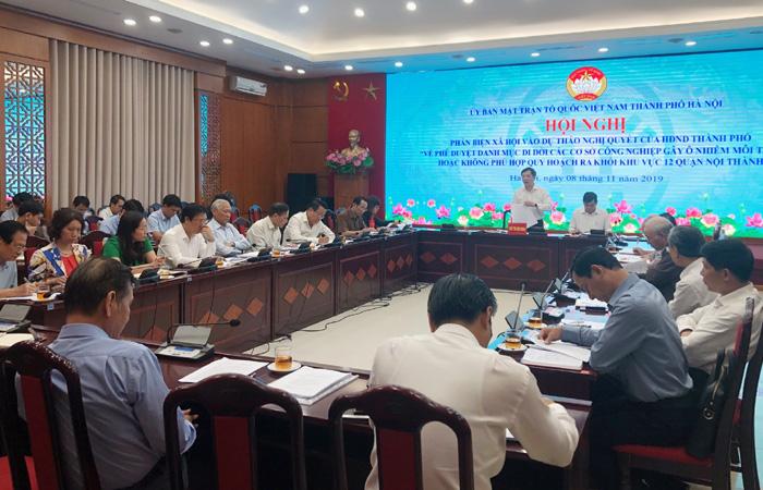 Sớm di dời các cơ sở gây ô nhiễm ra khỏi nội thành Hà Nội