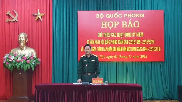 Nhiều hoạt động kỷ niệm Ngày hội Quốc phòng toàn dân và thành lập QĐND Việt Nam
