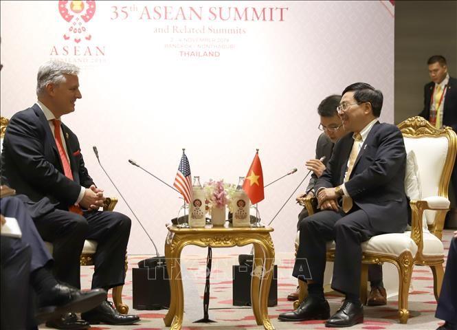 Phó Thủ tướng, Bộ trưởng Ngoại giao Phạm Bình Minh đã tiếp Cố vấn an ninh quốc gia Hoa Kỳ