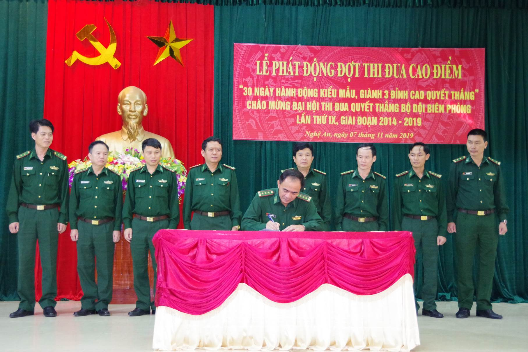 Bộ đội biên phòng Nghệ An phát động đợt thi đua cao điểm