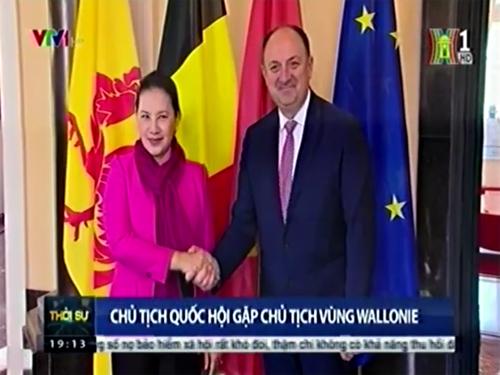 Chủ tịch Quốc hội gặp chủ tịch vùng Wallonie