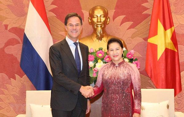 Chủ tịch Quốc hội hội kiến Thủ tướng Hà Lan