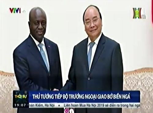 Thủ tướng tiếp Bộ trưởng Ngoại giao Bờ Biển Ngà