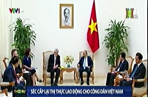 Séc cấp lại thị thực lao động cho công dân Việt Nam