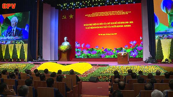 Chủ tịch Hồ Chí Minh sống mãi với non sông đất nước, với nhân dân ta