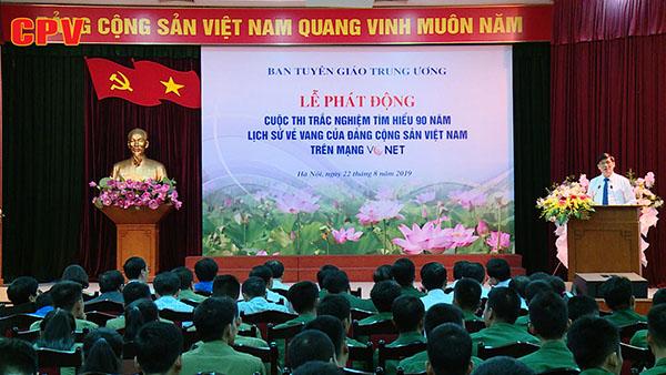 """Phát động Cuộc thi trắc nghiệm """"Tìm hiểu 90 năm lịch sử vẻ vang của Đảng Cộng sản Việt Nam"""" trên mạng VCNET"""