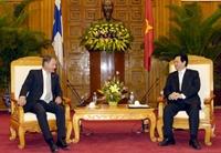 Thủ tướng Nguyễn Tấn Dũng Việt Nam mong muốn cùng Phần Lan đẩy mạnh quan hệ hợp tác trên mọi lĩnh vực