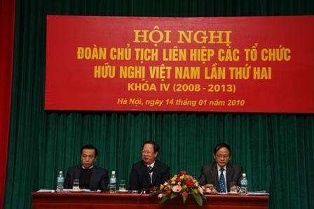 Hội nghị Đoàn Chủ tịch Liên hiệp các tổ chức hữu nghị Việt Nam lần thứ hai Khóa IV 2008-2013