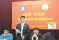 Festival Sinh viên Thủ đô 2010 sẽ diễn ra từ ngày 8 đến 10-01