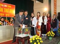 Hoà Bình Đảng bộ phường đầu tiên trực tiếp bầu Bí thư và các Phó Bí thư tại Đại hội