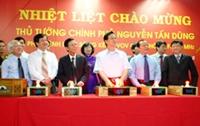 Thủ tướng Nguyễn Tấn Dũng phát lệnh phát sóng kênh VOV giao thông TP Hồ Chí Minh