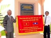 Khánh thành bia di tích quân tình nguyện Việt-Lào