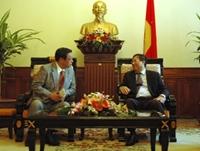 Phó Thủ tướng, Bộ trưởng Ngoại giao Phạm Gia Khiêm tiếp Đoàn chính quyền thành phố Sa-cai, Nhật Bản