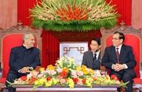 Tổng Bí thư Nông Đức Mạnh tiếp Tổng thống Ti-mo Lét-xtê