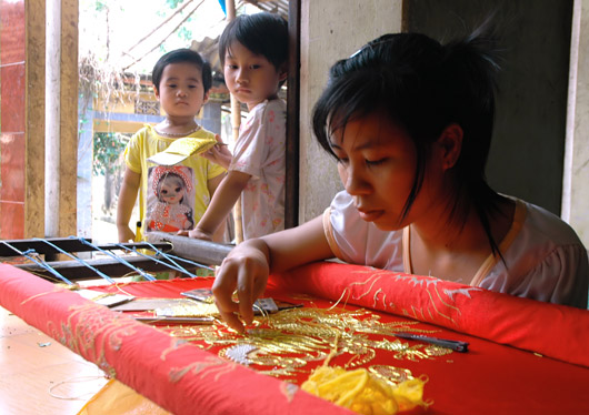 Nét đẹp nghề thêu tay cổ truyền