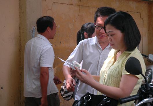Không khí ngày thi vào lớp 10 tại Hà Nội