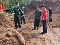 Hòa Bình Phát hiện 3 quả bom còn sót lại sau chiến tranh