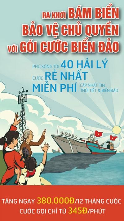 Vinaphone tặng 2 000 sim biển đảo cho ngư dân Phú Yên