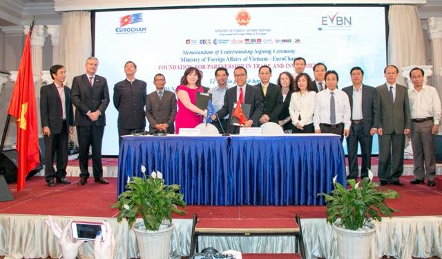 Bộ Ngoại giao - Hiệp hội doanh nghiệp châu Âu tại Việt Nam ký Bản ghi nhớ về hợp tác thương mại