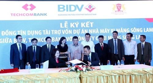 BIDV và Techcombank tài trợ trên 6 000 tỷ đồng cho doanh nghiệp ngành xi măng