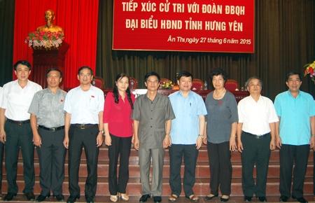Hưng Yên Đại biểu Quốc hội và đại biểu HĐND tỉnh tiếp xúc cử tri