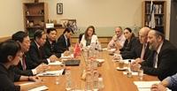 Trưởng Ban Kinh tế Trung ương làm việc với Bộ trưởng Bộ Kinh tế Israel